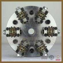 Martillo de diamante 6rollers con placa para superficie de Litchi