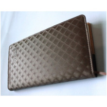 Grid PU Cover Business Notebook, Notebooks with Rope for Message