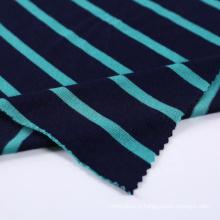 Tissu de chemise extensible à rayures anti-salissures professionnel