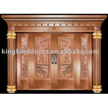 luxury copper door villa door exterior door KK-701