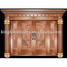 Роскошные медные двери Вилла наружные двери KK-701