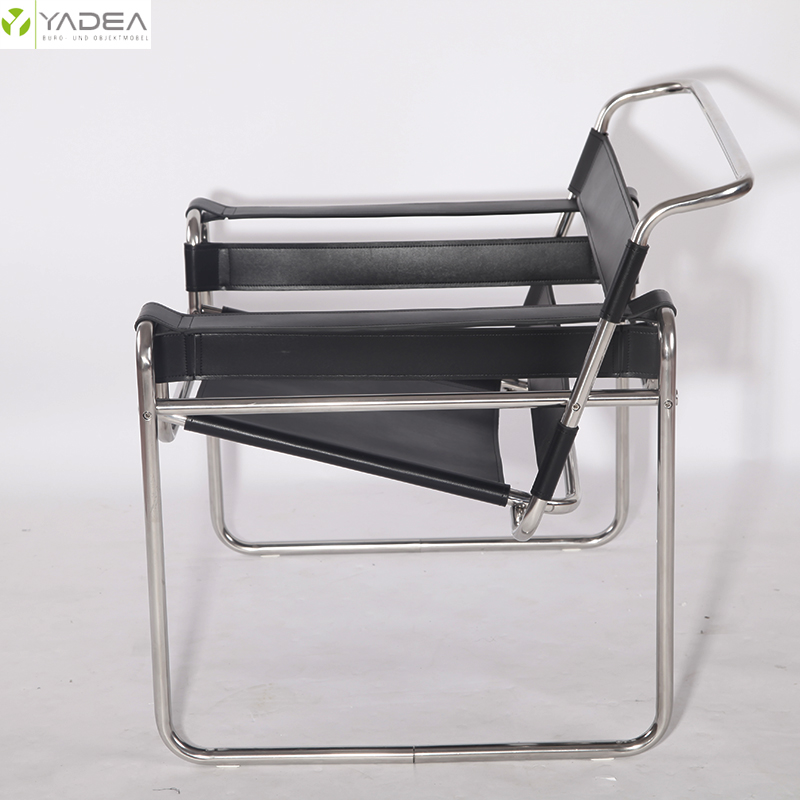 Saddle leather wassily chair