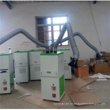 Extractor de humos de soldadura con dos brazos de succión