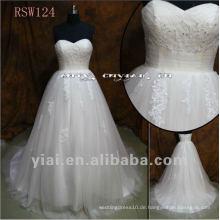 RSW124 Real High Taille Appliqued Tüll Brautkleid