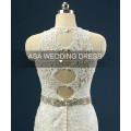 RASA-18 2015 vestido de boda de la nueva de la llegada de ojo de la cerradura trasero vestido de novia de manga larga sin mangas de cuello blanco Grecian vestido de bodas