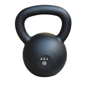 Cast Iron Kettlebell nero