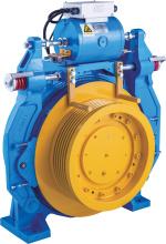 Lif gearless daya tarikan Mesin 3000kg aci beban