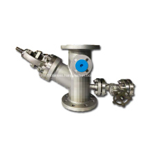 Y Globe valve with Jacket and Drain