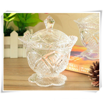 Home Storage Glass Candy Bowl and Sugar Bowl