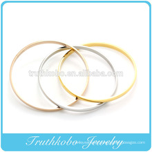 china high quality Stainless steel triple color love cuff fashion bracelet Bangles machine cut bangle OEM