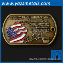 Custom metal dog tag business card
