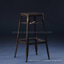 Площадь ржавчины старинный металлический барный стул (СП-MC074)