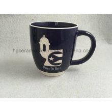 Sandblast Becher, graviert Becher, Keramik Becher mit eingraviertem Logo