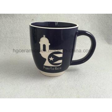 Tasse sablée, tasse gravée, tasse en céramique avec logo gravé