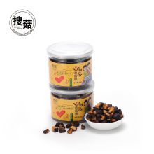 Low fat vacuum fried VF dried mushroom chips made in China