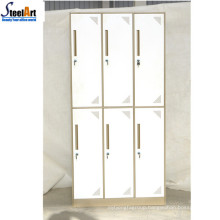Hotel staff use 6 door cloth locker metal wardrobe cabinet