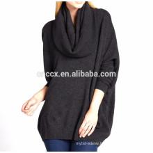 15PKCAS18 lady 's turtleneck 85%cotton 15% cashmere knit thick warm sweater