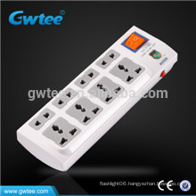 8 way multi protection overload safety electric plug socket