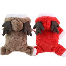 Autumn/Winter Christmas Four legs Heavy coat fleece warm button dog clothes pet cat clothes