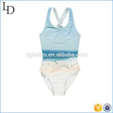 Подгонянный цельный бикини дети купальники отпечатано симпатичные пляжная одежда