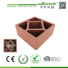 120 * 120mm Huasu Eco WPC affichage en bois pour la clôture et la balustrade