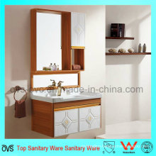 Wall Hung Mirror Bathroom Cabinet Vanity with Sink