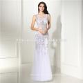 Женщины шифон партия платья сексуальный половина рукав белый кружева Макси длинное платье с длинным молнии юбка Вечерние платья