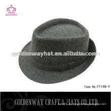 Blanco sombrero borsalino de lana para hombres