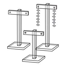 Custom Acrylic T-Bar Earring Jewelry Display Stand