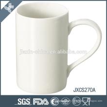 Tasse de café en porcelaine de conception de mas de X ', tasse en porcelaine blanche superbe