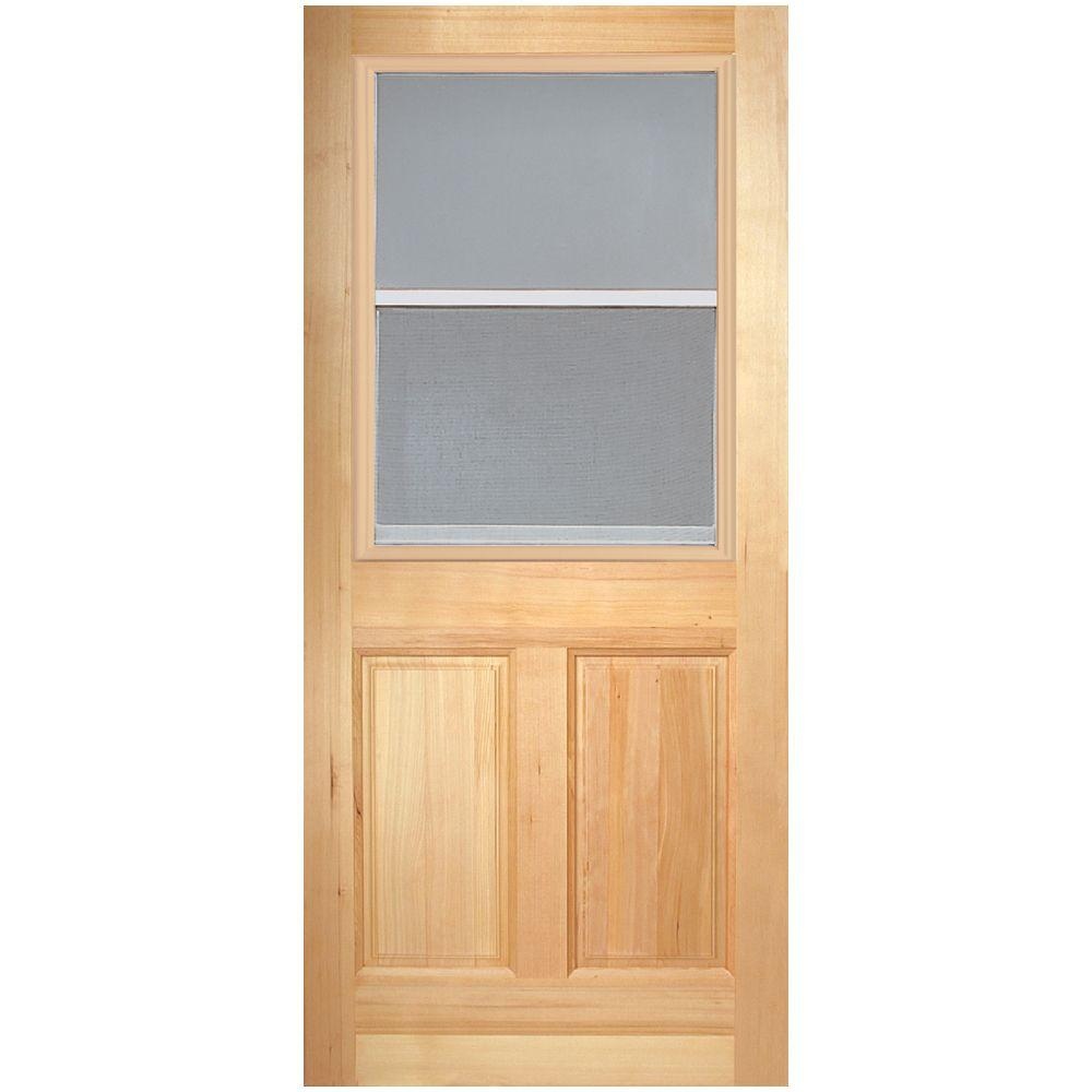 4-Panel Unfinished Fir Front Door Slab