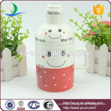 Smiling Face Creative Beer Mug Handle With Lid