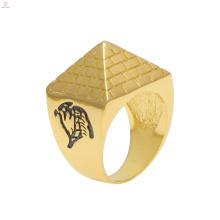 Anéis de pirâmide de liga de ouro hiphop egito totem