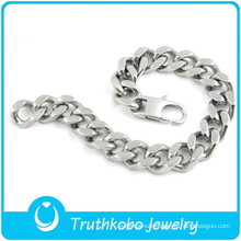 TKB-B0112 Special cool charm jewelry with bible words catholic cross 316L stianless steel letter bracelets for men