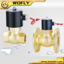 Vanne en laiton Valve en acier inoxydable 24v Dc Electrovanne pneumatique