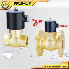 1/2''~2'' BSP thread pilot type high temperature high frequency brass steam solenoid valve in China