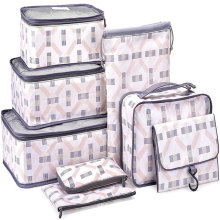 8 Set Packing Cubes,Compression Travel Luggage Organizers with Laundry Bag Shoes Bag for Carry-on Luggage, Suitcase and Backpack