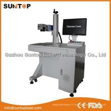 Machine à laser à marquage noir en acier inoxydable / Machine à imprimer au laser à fibre noire