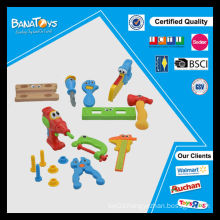 Colorful educational toys with music and light plastic children tool play set
