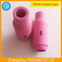 10N49 boquilla de cerámica de argón para la antorcha de soldadura tig