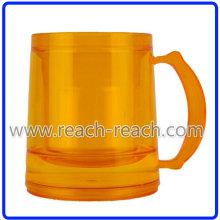 Double Wall Plastic Frosty Beer Mug, Ice Mug (R-7018)