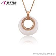 Moda Feminina Rose Banhado a Ouro Imitação CZ Jóias Cerâmica Colar ou Cadeia - 42892