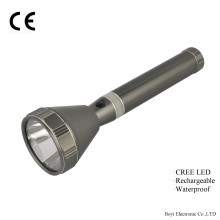 Rechargeable Flashlight with Big Head, High Quality, Promotion