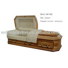 Chapa del roble del ataúd adulto sin ataúd de cremación