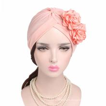diseño caliente hijab turbante musulmán quimio bandanas sombrero
