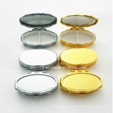 Caso de pílula personalizada, oval Gold Pill Case