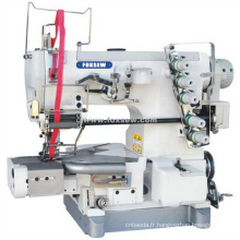 Machine à coudre de verrouillage de lit à cylindre pour fixation en dentelle élastique