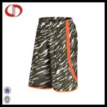 100% Polyester Neue Muster Camo Basketball Shorts für Mann