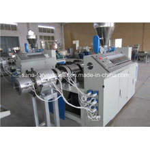 Máquina del extrusor del tubo del PVC de 200 a 400m m con la línea de la protuberancia del precio / del tubo