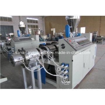 Máquina da extrusora da tubulação do PVC de 200 a de 400mm com linha da extrusão do preço / tubulação